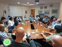 בכירי עיריית רחובות קיימו פגישת עבודה עם מפקדי המשטרה