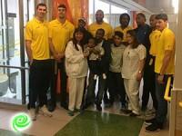 מכבי אשדוד הגיעה לבית חולים קפלן לשמח ילדים