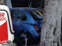 רכב נכנס בתוך חנות ברחוב הרצל ברחובות