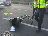 רוכב אופניים חשמליים נפצע אנוש