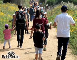 צעדת האביב בחול המועד:צועדים בסימן 70 לישראל