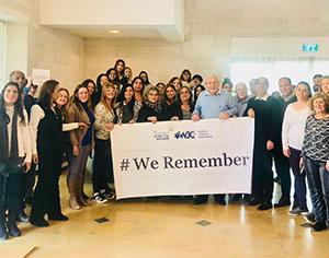 עיריית רחובות ובכיריה משתתפים בקמפיין העולמי ליום השואה הבינלאומיwe remember