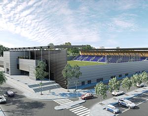 הקמת האיצטדיון העירוני: העבודות בשטח החלו