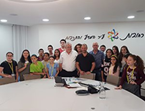 לרגל יום הילד הבינלאומי: מפגש עם מנהיגים צעירים בלשכת ראש העיר