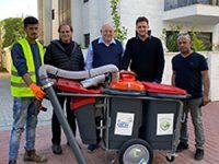 לראשונה בישראל: עגלות חשמליות לניקוי הרחובות